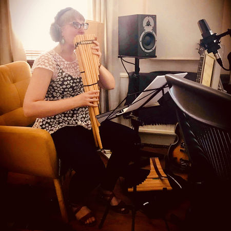 Holly Cook recording session with Jessica Jones and Tim Morrish