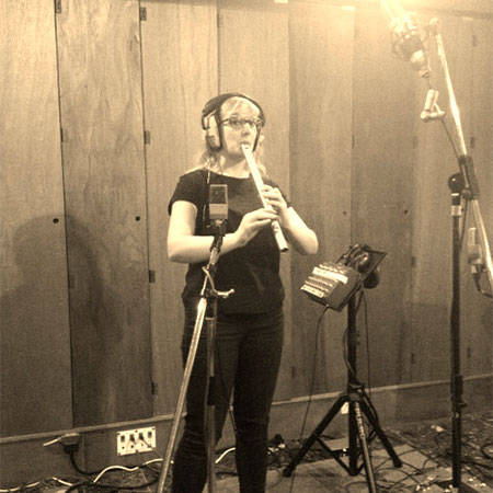 Holly Cook - Rockfield Studios, Wales – Recording whistle for Skinny Lister Down on Deptford Broadway, December 2013