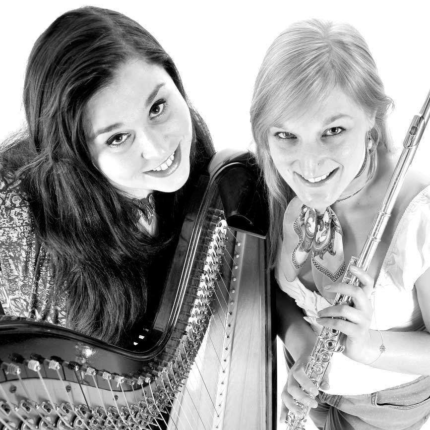 Holly Cook and Tamara Young - Syrinx - Flute and Harp Duo - photography by Karl Hugger