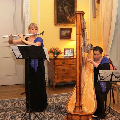 Holly Cook and Tamara Young - Syrinx - Flute and Harp Duo - Performance at the German Embassy