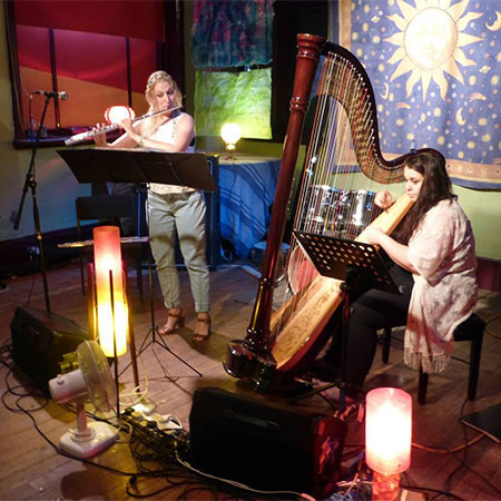 Holly Cook and Tamara Young - Syrinx - Flute and Harp Duo – 'Here Comes the Sun Festival', Rising Arts Centre Reading, August 2014