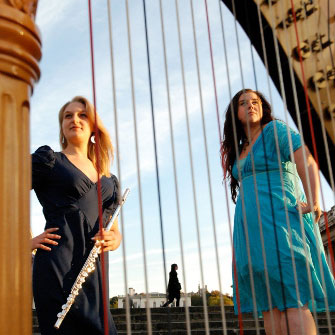 Holly Cook and Tamara Young - Syrinx - Flute and Harp Duo - Photography by L. Gibson