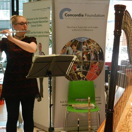 Holly Cook and Tamara Young – Syrinx Flute and Harp Duo – University College London Hospital, Concordia Foundation, February 2015