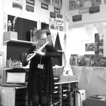 Holly Cook - Workshop at Shapla School, London, Concordia Foundation, January 2015 (Bansuri)