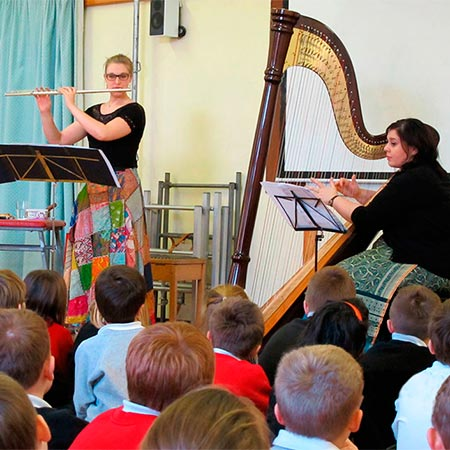 Holly Cook and Tamara Young - Workshop at Copley Junior School Sprotbrough