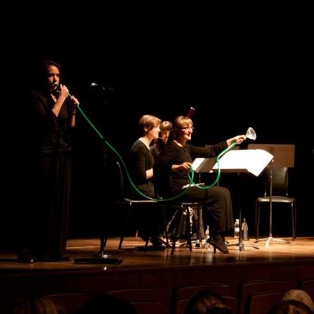 Woodwind instrument workshop and demonstration, Vesuvio Wind Quintet, Saudi Arabia April 2011