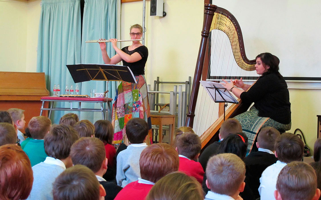 Syrinx - Flute and Harp Duo with Holly Cook - Flute and Tamara Young - Harp - School Rectial - Teaching Holly Cook - flautist and